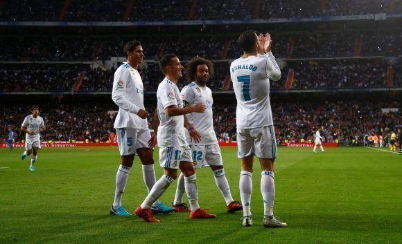 Cristiano sopló al cielo al marcar su segundo gol liguero luego de fallar un penal. Foto: Reuters.