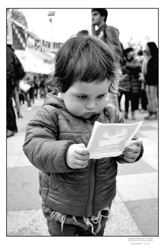 """Foto de la Expo """"Donde estés con tu alma"""", dedicada a Santiago Maldonado. Foto: Diego Cabrera"""