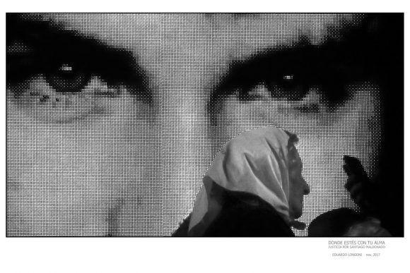 """Foto de la Expo """"Donde estés con tu alma"""", dedicada a Santiago Maldonado. Foto: Eduardo Longoni"""