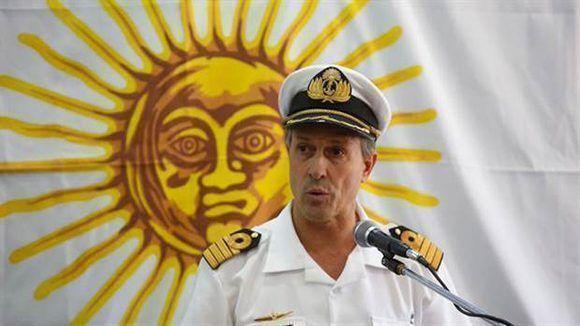 Enrique Balbi, vocero de la Armada de Argentina. Foto: Silvana Colombo/ La Nación.