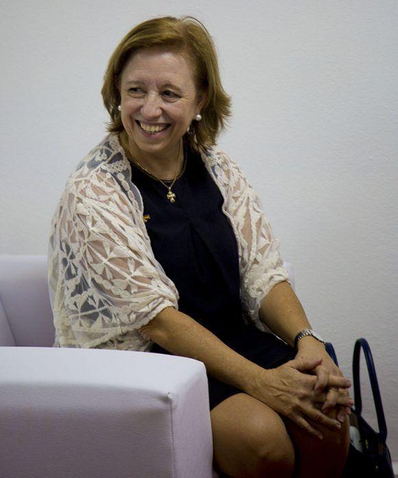María Luisa Poncela,  Secretaria de Estado de Comercio de España en Feria de la Habana. Foto: Ismael Francisco/Cubadebate.