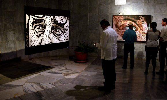 Inauguración de la exposición Semblanza, del joven pintor Reinier Saavedra Sotolongo, dedicada al Comandante en Jefe Fidel Castro, en el Memorial José Martí, en La Habana, Cuba, el 24 de noviembre de 2017.   ACN FOTO/Marcelino VÁZQUEZ HERNÁNDEZ/ogm