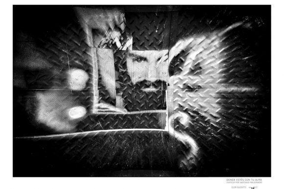 """Foto de la Expo """"Donde estés con tu alma"""", dedicada a Santiago Maldonado. Foto: Flor Guzzeti"""