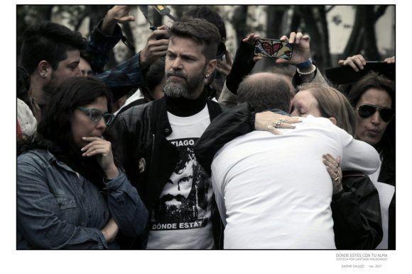 """Foto de la Expo """"Donde estés con tu alma"""", dedicada a Santiago Maldonado. Foto: Gazpar Galazzi"""