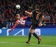 Griezmann marca el primer gol del Atlético ante la Roma. Foto: Reuters.
