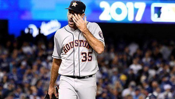 Justin Verlander no pudo vencer a los Dodgers. Foto: Wally Skalij/ Los Angeles Times.