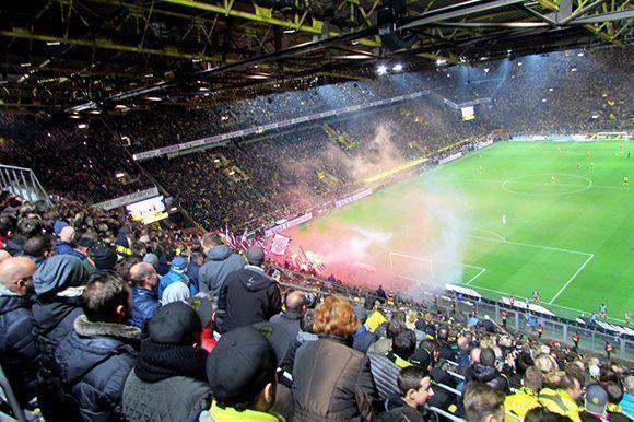 Los aficionados del Bayern no fueron menos. Foto del autor.