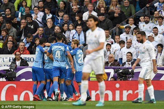El Real Madrid sufrió en el Bernabéu para derrotar 3-2 al Málaga. Foto: AFP/ Getty.