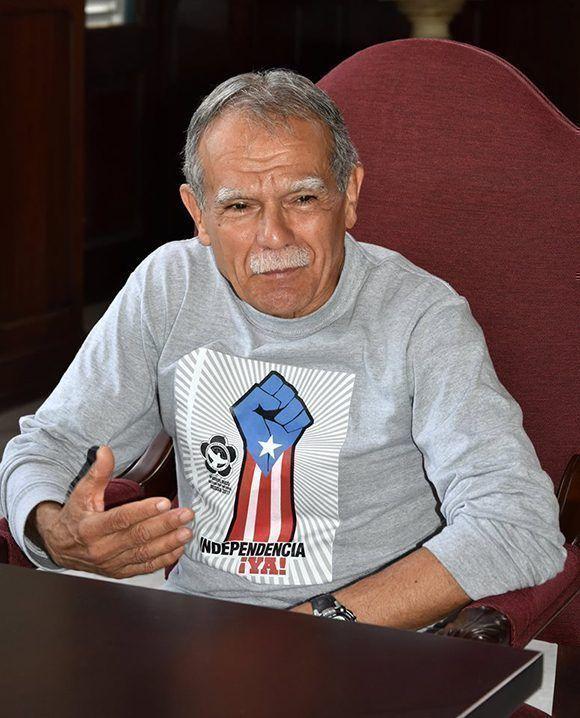 Oscar López Rivera en La Habana. Foto: Karoly Emerson/ Siempre con Cuba/ ICAP.