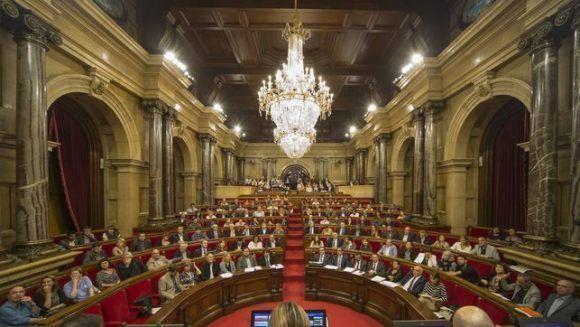 El parlamento catalán. Foto tomada de El Diario.