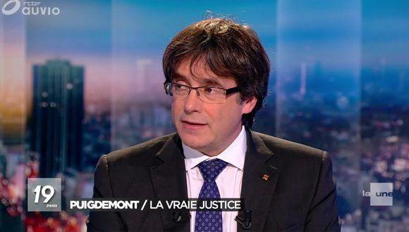 """""""Estoy dispuesto a ser candidato"""" afirma Puigdemont a la televisión belga. Foto: @elpais_espana / Twitter"""