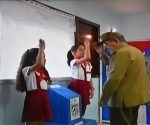 Raúl votó temprano. Foto tomada de TV