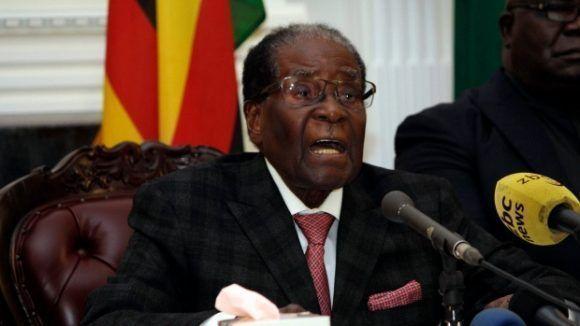 Mugabe pronunció ayer un sorpresivo discurso. Foto tomada de CBC.