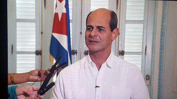 El viceministro del MINREX, Rogelio Sierra. Foto: Cancillería de Cuba.