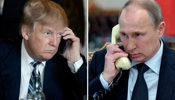El presidente de Rusia, Vladimir Putin, habló con su homólogo de Estados Unidos, Donald Trump, sobre varios temas de importancia en la agenda internacional.