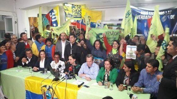 Alianza País retiró a Lenin Moreno de la presidencia