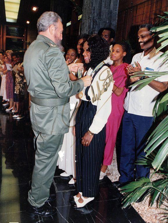 Ana Fidelia junto al Comandante en Jefe Fidel Castro Ruz. Foto: Cortesía Ana Fidelia Quirot