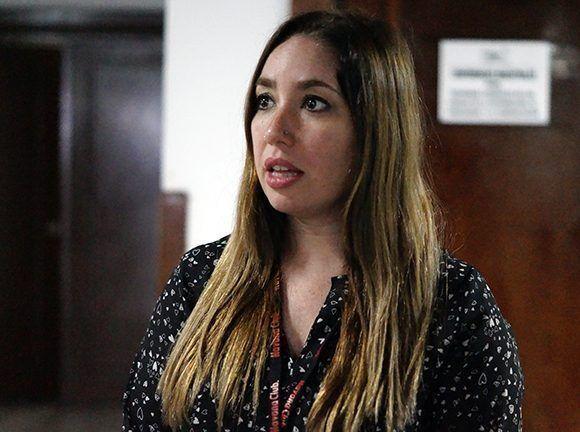 Florencia Copley es Licenciada en Comunicación Audiovisual y periodista argentina. Foto: Yadiana S. Gibert/ Cubadebate.