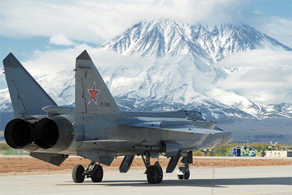 MiG-31, caza de interceptación aérea. Foto: Ministerio de Defensa de Rusia.