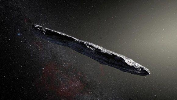 Es la primera vez que los astrónomos detectan un objeto de origen interestelar. Interpretación artística del asteroide 'Oumuamua.
