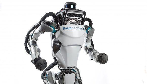 El robot Atlas tiene 28 articulaciones y un sistema de visión que combina cámaras con un Lidar. Foto: Boston Dynamics