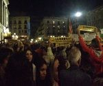 Manifestantes se reúnen en el centro de Barcelona para reclamar liberación de exgobernantes catalanes. @laura_ro7 / Twitter