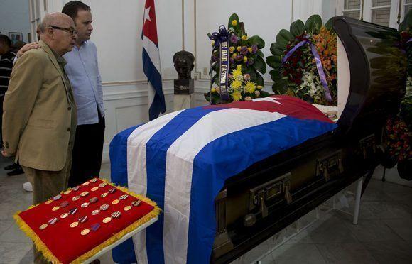 Honras fúnebres del intelectual y político cubano Armando Hart Dávalos. Foto: Ismael Francisco/ Cubadebate.