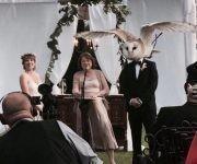 La boda de... ¿el hombre búho? Foto: Meghan McNeer.