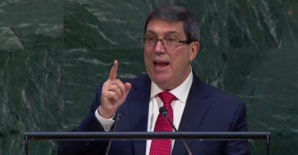 El canciller cubano condenó el discurso retórico e ingerencista de la embajadora norteamericana ante la ONU.