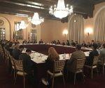 Funcionarios del Minrex sostuvieron un encuentro con empresarios de EEUU. Foto: @JosefinaVidalF/ Twitter.