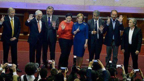Los ocho candidatos que compiten en las elecciones en Chile. Foto: t13.