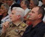 El Comandante de la Revolución Ramiro Valdés Menéndez asistió a la gala político cultural en ocasión de conmemorarse el 60 aniversario de la caída en combate de Ciro Redondo. Foto: Otoniel Márquez/ elartemiseño.