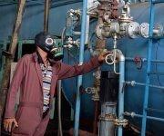 Área de máquinas donde ocurrió el escape de amoniaco, en la fábrica de helados Coppelia, de la ciudad de Camagüey; el accidente no provocó víctimas y la industria continúo su producción, 29 de noviembre de 2017. ACN FOTO/ Rodolfo BLANCO CUÉ/sdl