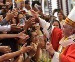 El Papa Francisco en la Misa que presidió este jueves 30 de noviembre en Myanmar. Foto: Edward Pentin/ ACI Prensa.