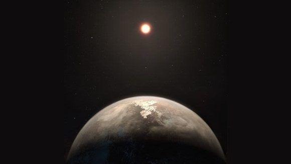 Ilustración con el posible aspecto de Ross 128b. Imagen: ESO/M. Kornmesser.