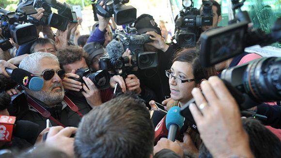Tras recibir la noticia de lo ocurrido con el ARA San Juan, los familiares de los tripulantes reaccionaron con enojo y críticas a la Armada y el Gobierno por el modo en que manejaron el caso. Foto: Télam.