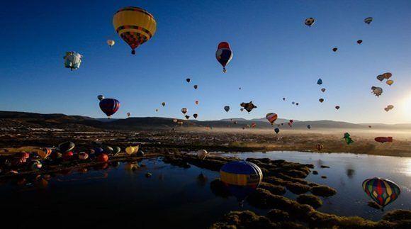 Más de 200 pilotos de globos aéreos de diferentes países se encontraban en el Festival Internacional del Globo. Foto:Webcams de México.