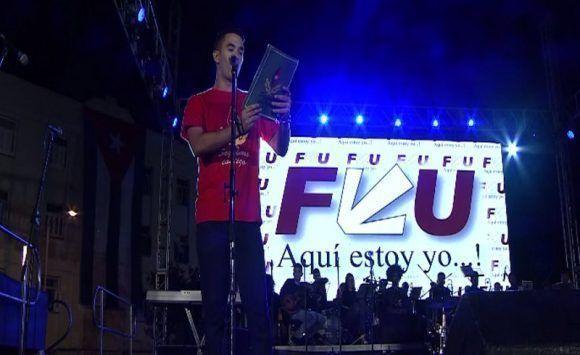 Raúl Palmero, Presidente Nacional de la Feu. Foto: HrRebelde / Twitter