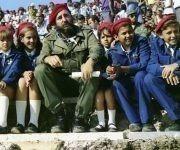 """Durante la inauguración del Campamento de Pioneros """"José Martí"""" en Tarará,  La Habana, 20 de julio de 1975. Foto: Estudios Revolución / Sitio Fidel Soldado de las Ideas"""
