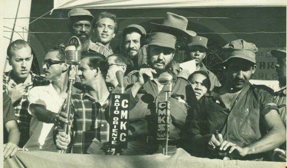 Fidel Castro en Guantánamo, el 3 de febrero de 1959. Foto: Archivo
