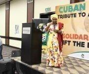 La veterana dirigente política sudafricana Nkosozana Dlamini Zuma. Foto Ilsa Rodríguez.