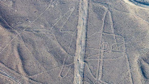 Geoglifo de una ballena en Nazca, Perú. Foto: Diego Delso / Wikipedia
