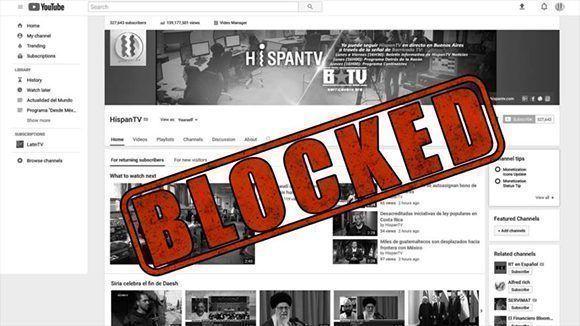 HispanTV contaba con 329.550 suscriptores y tenía 48.991 videos en YouTube. Foto: HispanTV.
