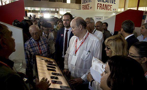 Malmierca reiteró la voluntad de fortalecer los vínculos económico-comerciales entre Cuba y Francia. Foto: Ismael Francisco / Cubadebate