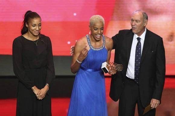 Barshim y Thiam recibieron por primera vez en sus carreras el premio más cotizado de la IAAF (Foto: Reuters)