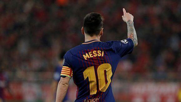 Lionel Messi alcanza los 600 partidos contra el Sevilla. Foto: Reuters.