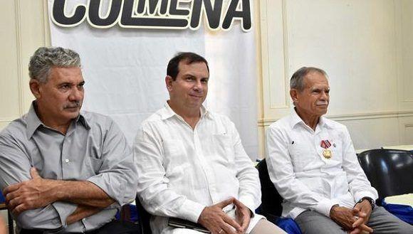 Oscar estuvo acompañado de quien fue su compañero de celda, Fernando González Llort, presidente del Instituto Cubano de Amistad con los Pueblos (ICAP), y de Edwin González, delegado de la Misión de Puerto Rico en Cuba. Karoly Emerson/ACN.