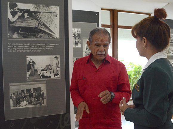 Oscar López Rivera, luchador  independentista puertorriqueño, recorre el museo dedicado a la vida y obra del Guerrillero de América, durante su visita al Complejo Escultórico Comandante Ernesto Che Guevara, en la  ciudad de Santa Clara. Foto: Arelys María Echeverría / ACN