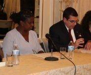 Panel sobre Fidel en la Embajada cubana en Washington. Foto: Prensa Latina
