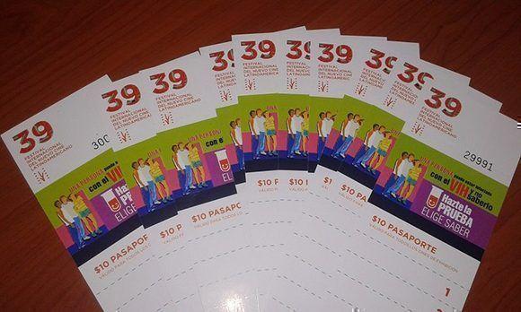 Así son los pasaportes para la 39 edición del Festival de Cine de La Habana. Foto: @festivaldelnuevocinelatinoamericano/ Facebook.